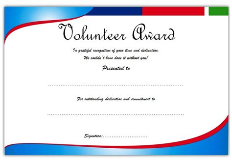 volunteer of the year certificate template outstanding volunteer certificate template 1 best 10