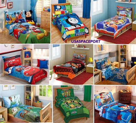 Toddler Bedding Set For Boys 4pc Boys Toddler Bedding Set Comforter Sheets Bed In A Bag Crib Decor Child Room Ebay