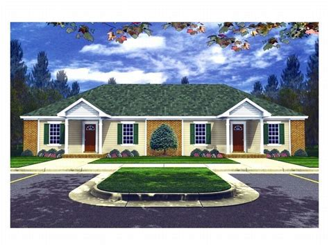 Ranch Style Homes With Open Floor Plans duplex home plans one story multi family house plan