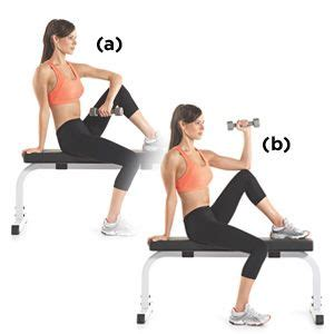 knee on bench dumbbell 15 best images about embrace your curves on pinterest
