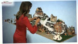 build a christmas winter village with pre painted ready to