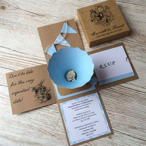 Unique Wedding Invitations by Best 25 Handmade Wedding Invitations Ideas On