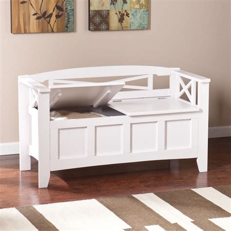 entryway storage bench large seat entry rack wooden
