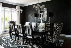 Black Modern Dining Room Sets How To Use Black To Create A Stunning Refined Dining Room