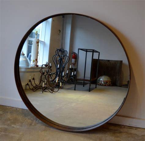 industrial metal mirror industrial metal band mirror at 1stdibs
