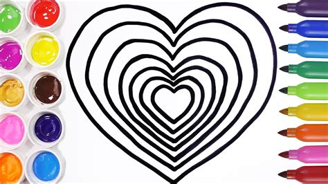 imagenes de criaturas mitologicas para dibujar c 243 mo dibujar corazones para ni 241 os aprende los colores
