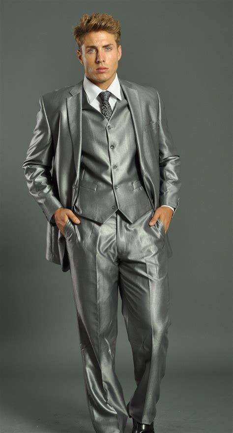 light gray vested suit s two button vested shark skin light grey slim fit