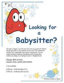 babysitting flyer template best house sitting and babysitting flyer downloads