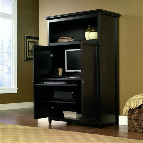 edge water computer armoire space saving computer armoire with concealed work desk