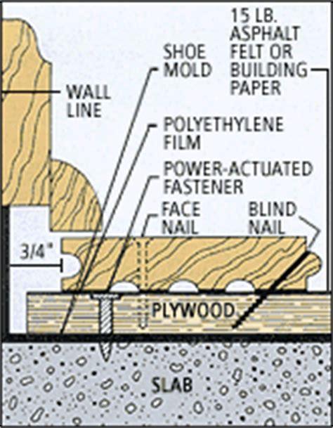 how to install hardwood floors on concrete slab installing hardwood floors concrete slabs