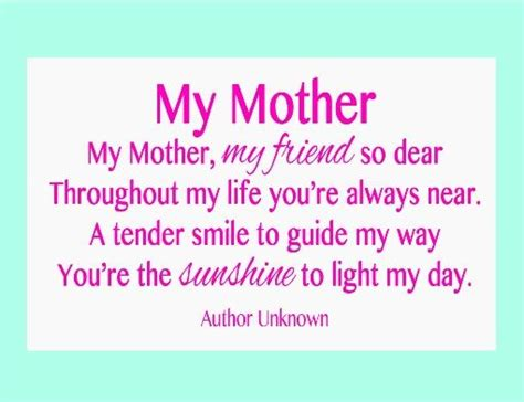 short biography about my mother great craft ideas and wonderful poems for mother s day