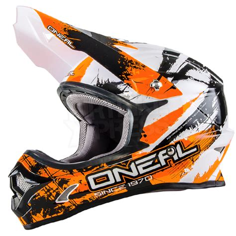 orange motocross helmet 2016 oneal 3 series motocross helmet shocker black