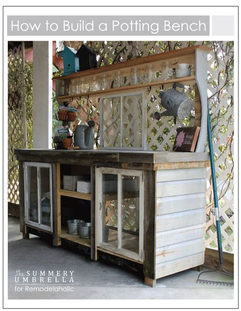 make a potting bench remodelaholic how to build a potting bench from reclaimed wood and old windows