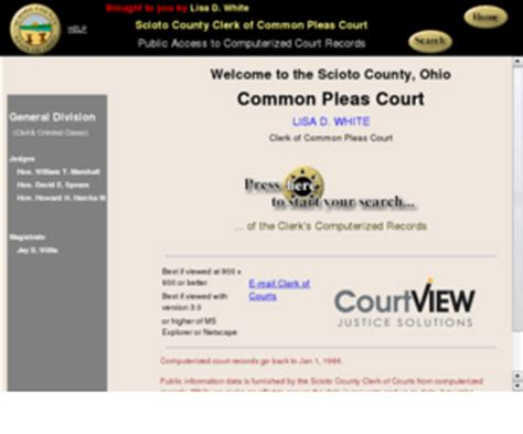 Scioto County Common Pleas Court Records Sciotocountycpcourt Org Mvp Court Connect