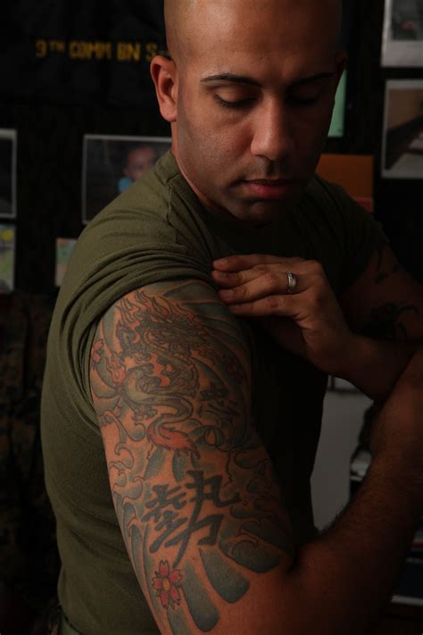 marines tattoos corps cracks on excessive tattoos gt headquarters