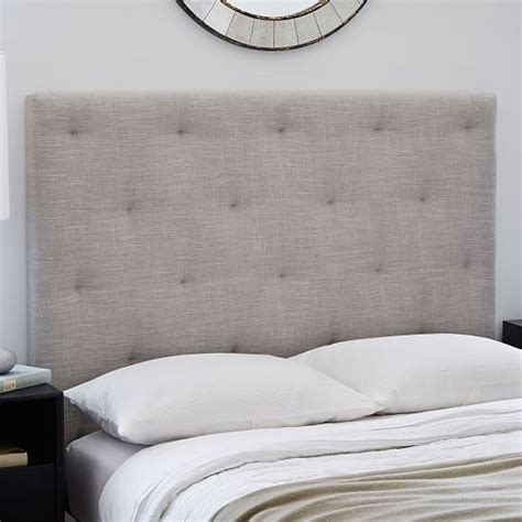 tufted headboard with diamonds diamond tufted headboard west elm