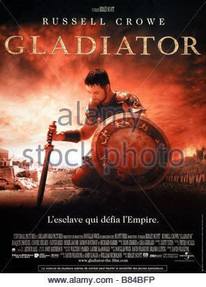 gladiator film uk russell crowe poster gladiator 2000 stock photo royalty