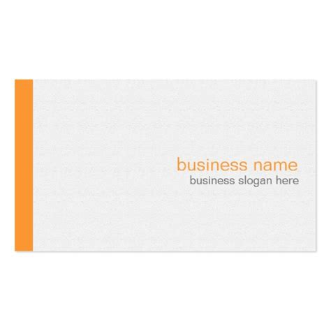 white template for business cards plain elegant modern simple orange stripe on white
