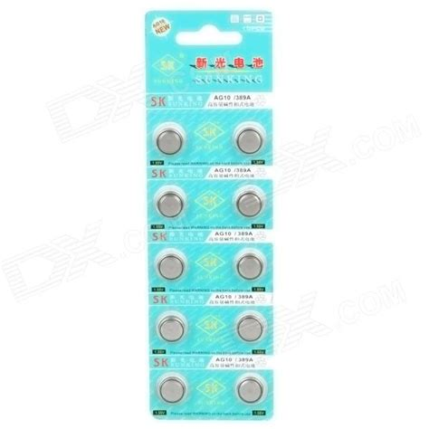 Baterai Kancing Lithium Ag10 Lr1130 1 55v 1 Pcs buy ag10 389a 1 55v cell button batteries silver 10pcs at dealextreme goods