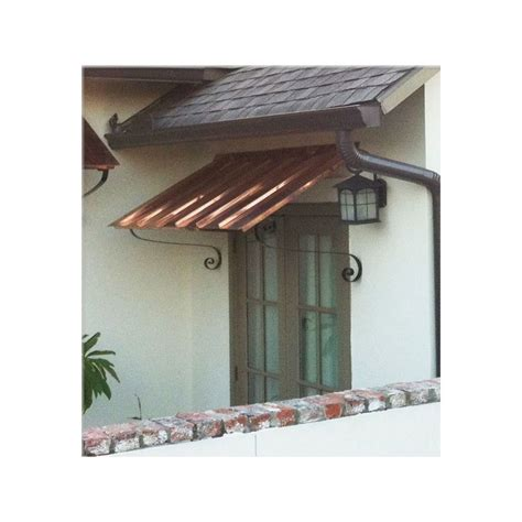 copper window awning 7 ft copper door or window awning