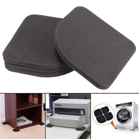 Mat For Washing Machine by 4pcs Non Slip Desk Mat Washing Machine Shockproof Pad