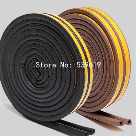 Seal 10m 2pcs 10m p type foam seal rubber seal for door and window black white brown in sealing