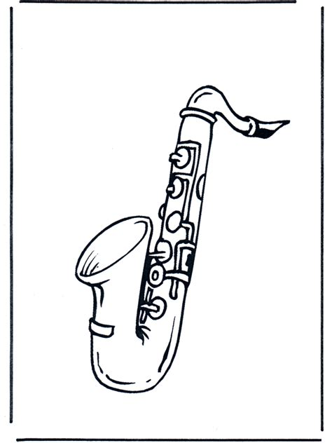 FunnyColoringcom / All Sorts Of Music Saxophone sketch template