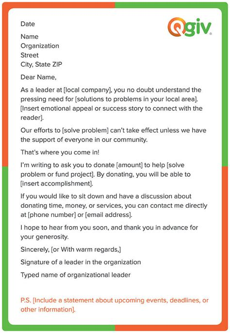 Letter To Business Asking For Donations letter asking for donations from businesses template