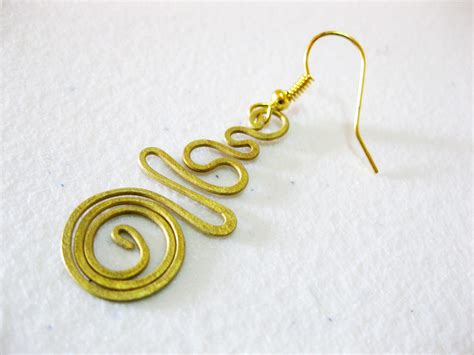 Handmade Jewelry Thailand - earrings dangle brass swirl circle fashion designs