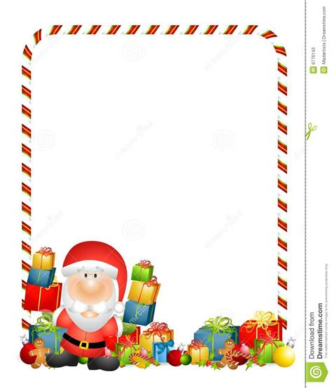 Clipart Border Of Gifts And by Santa Claus With Gifts Clipart