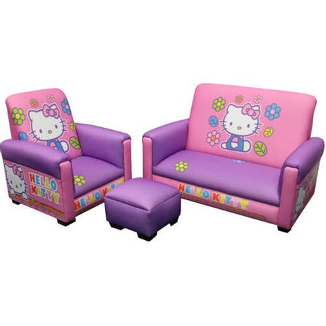 hello kitty sofa chair hello kitty toddler sofa chair and ottoman walmart com