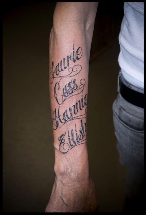 script tattoo cursive lettering tippingtattoo