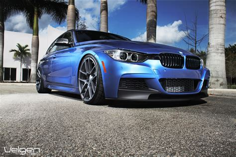 bmw f30 335i lowered on vmb5 teaser velgen wheels