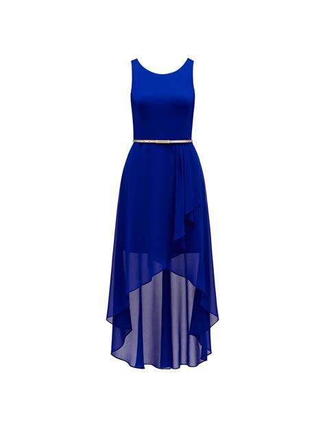 Hi Lo Danielle Hi Lo Dress Neon Cobalt Womens Fashion