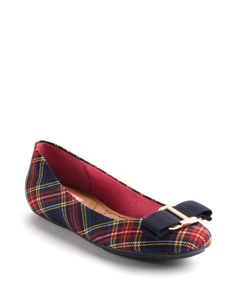 Plaid Flats isaac mizrahi fablola plaid ballet flats in blue lyst