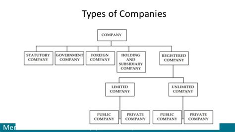 Types Of by Types Of Company