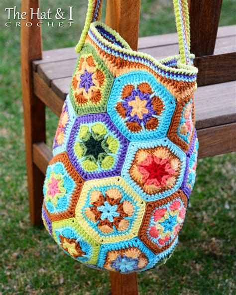 african flower crochet pattern bag crochet pattern boho bag an african flower crochet by