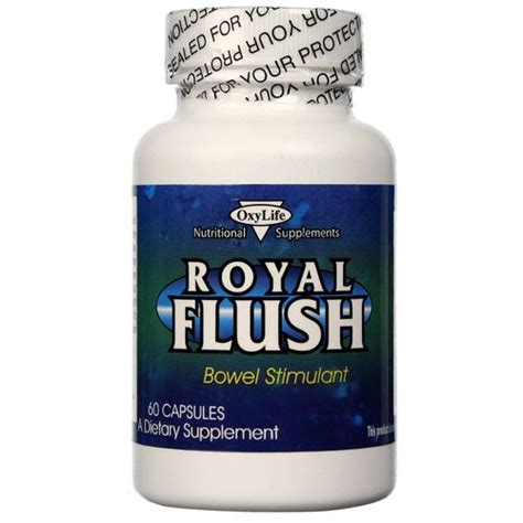 Royal Flush Detox Drink Reviews by Oxylife Royal Flush Bowel Stimulant 60 Capsules