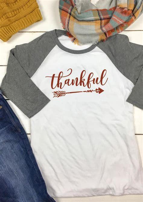 T Shirt Thankful Thankful Arrow Printed O Neck T Shirt Fairyseason