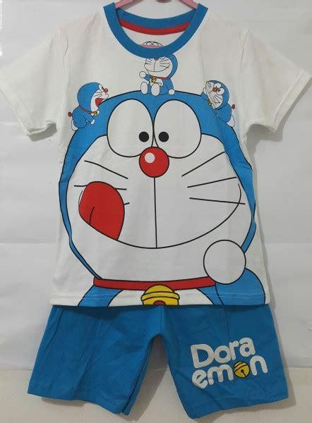 Baju Setelan Bayi Doraemon Dorayaki 1t 6t setelan baju anak doraemon putih grosir eceran baju anak murah berkualitas