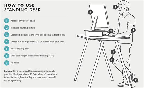 how to stand at a standing desk how to stand at a standing desk