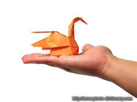 Origami Swan Meaning - origami swan photo picture definition at photo