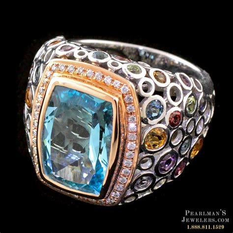 bellarri jewelry blue topaz multi gemstone ring