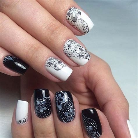 2017 S Best Manicure 25 best white and black nails manicure polka dot nail