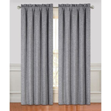 Charcoal Linen Curtains Linen Look Curtains Best Home Design 2018