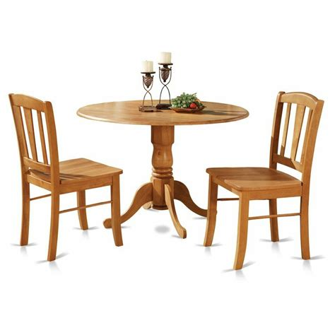 drop leaf kitchen table set 3pc pedestal drop leaf kitchen table 2 chairs solid wood light oak ebay
