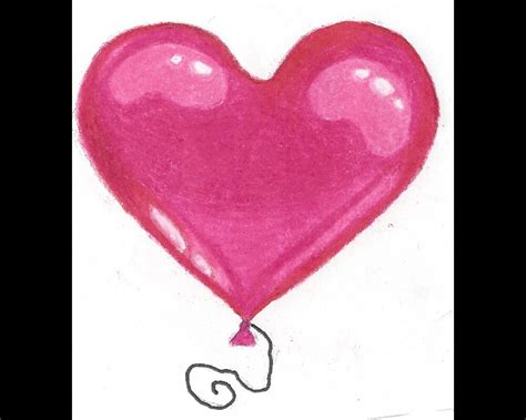 balloon heart drawing by holly