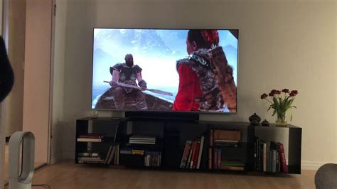 god of war on a samsung 82 inch tv