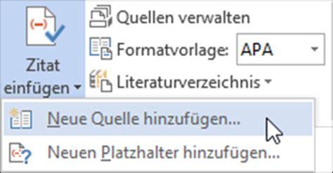 Word Quellenverzeichnis Vorlage Literaturverzeichnisse Und Quellennachweise Erstellen In Word 2013