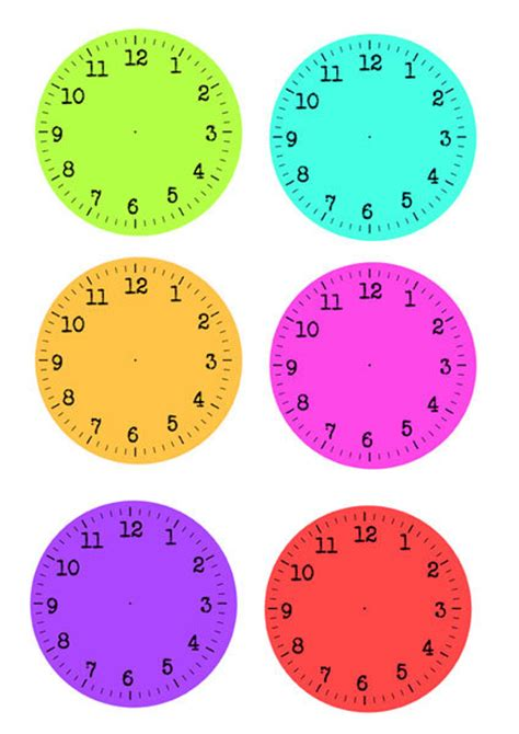 printable clock faces for crafts common worksheets 187 clock printout preschool and